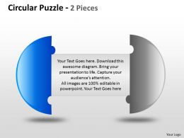 Circular Puzzle 2 and 3 Pieces