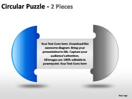 circular_puzzle_2_and_3_pieces_powerpoint_presentation_slides_Slide01