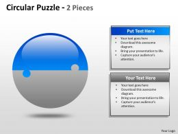 Circular Puzzle 2 and 3 Pieces ppt 3