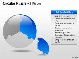 Circular Puzzle 2 and 3 Pieces ppt 4