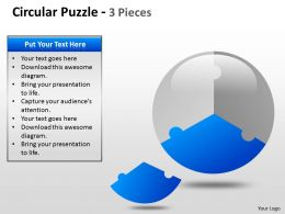 Circular Puzzle 2 and 3 Pieces ppt 5