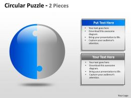 Circular Puzzle 2 and 3 Pieces ppt