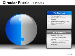 Circular Puzzle 2 And 3 Powerpoint Presentation Slides db