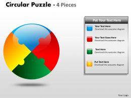 Circular Puzzle 4 Pieces