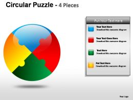 circular_puzzle_4_pieces_powerpoint_presentation_slides_Slide01