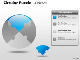 Circular Puzzle 4 Pieces ppt 2
