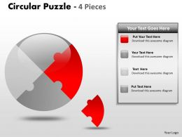 Circular Puzzle 4 Pieces ppt 3
