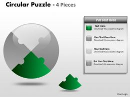 Circular Puzzle 4 Pieces ppt 4