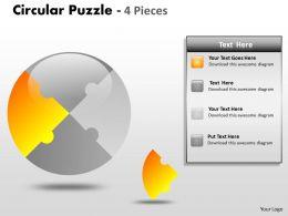 Circular Puzzle 4 Pieces ppt 5