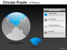 Circular Puzzle 4 Powerpoint Presentation Slides db