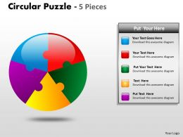 Circular Puzzle 5 Pieces