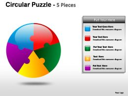 circular_puzzle_5_pieces_powerpoint_presentation_slides_Slide01