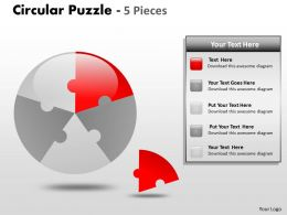 Circular Puzzle 5 Pieces Ppt 2