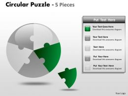Circular Puzzle 5 Pieces ppt 3