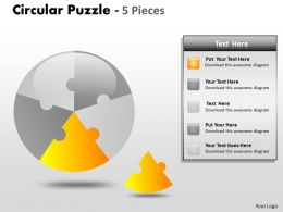 Circular Puzzle 5 Pieces ppt 4