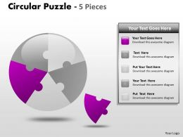 Circular Puzzle 5 Pieces ppt 5