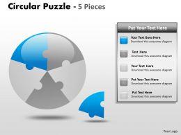 Circular Puzzle 5 Pieces ppt 6