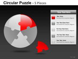 Circular Puzzle 5 Powerpoint Presentation Slides db