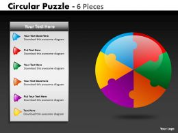 Circular Puzzle 6 Pieces