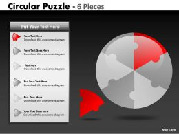 Circular Puzzle 6 Pieces ppt 2