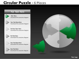 Circular Puzzle 6 Pieces ppt 3