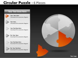 7580580 Style Puzzles Circular 6 Piece Powerpoint Presentation Diagram Infographic Slide