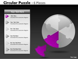 Circular Puzzle 6 Pieces ppt 5