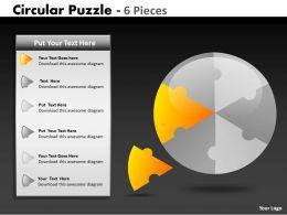 Circular Puzzle 6 Pieces ppt 6