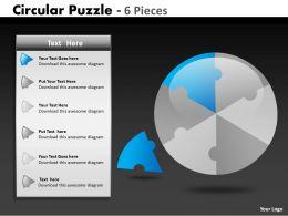 Circular Puzzle 6 Pieces ppt 7