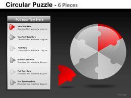 Circular Puzzle 6 Powerpoint Presentation Slides db