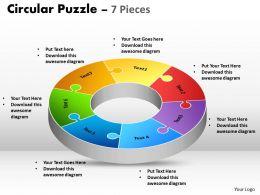 Circular Puzzle 7 Pieces