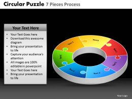 Circular Puzzle 7 Pieces Process Powerpoint Slides And Ppt Templates DB