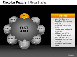 Circular Puzzle 8 Pieces Process Powerpoint Slides And Ppt Templates DB