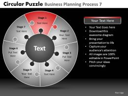 Circular Puzzle Business Planning Process 7 Powerpoint Slides And Ppt Templates DB