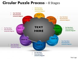 Circular Puzzle diagram Process 8 Stages 5