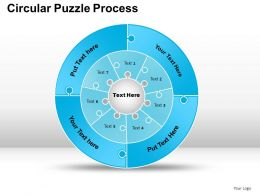 Circular Puzzle Flowchart Process Diagram Powerpoint Slides And ppt Templates 0412