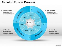 Circular Puzzle Flowchart templates Process Diagram 9