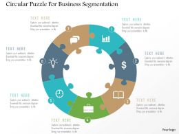 Circular Puzzle For Business Segmentation Flat Powerpoint Design