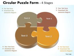 circular puzzle form 4 stages powerpoint templates diagrams 8