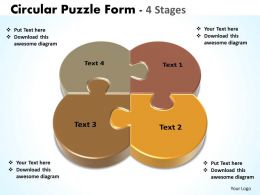 circular puzzle form diagram stages powerpoint templates 10