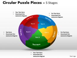 Circular Puzzle Pieces 5 Stages