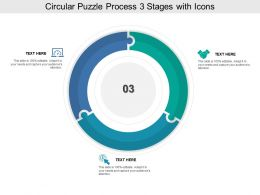 Circular Puzzle Process 03 Stages With Icons