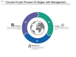 Circular Puzzle Process 03 Stages With Management And Structure