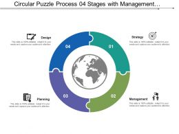 Circular Puzzle Process 04 Stages With Management And Structure