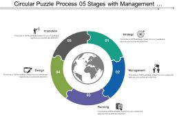 Circular Puzzle Process 05 Stages With Management And Structure