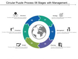 Circular Puzzle Process 06 Stages With Management And Structure