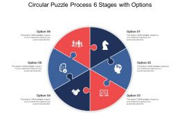 Circular Puzzle Process 06 Stages With Options