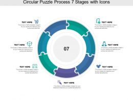 Circular Puzzle Process 07 Stages With Icons