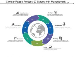 Circular Puzzle Process 07 Stages With Management And Structure