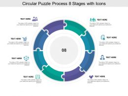 Circular Puzzle Process 08 Stages With Icons